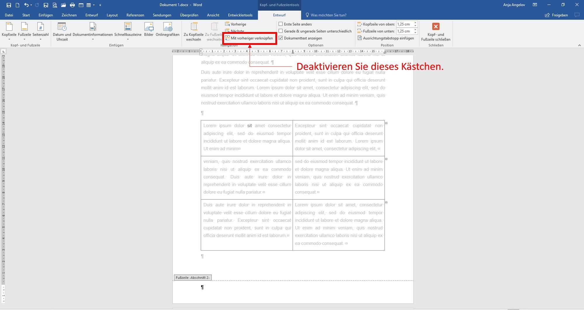 Word Unterschiedliche Seitenzahlen Einfügen Layoutheode